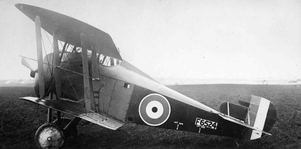 X003-2602/16497: Early-production Sopwith TF.2 Salamander, serial F6524, of the Section Technique de l'Aéronautique at Villacoublay, 1919.