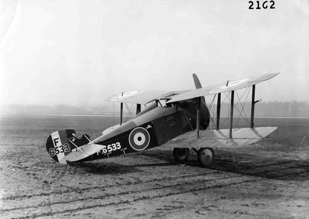 X003-2602/16505: An early-production Sopwith TF.2 Salamander, serial F6533, United States Army Air Service, probably photographed at McCook Field between 1919 and the mid-1920s.  A warning that 'This machine is not to be flown' was applied beneath the cockpit but the usual McCook Field number, in this case P-75, was not stencilled to the rudder.