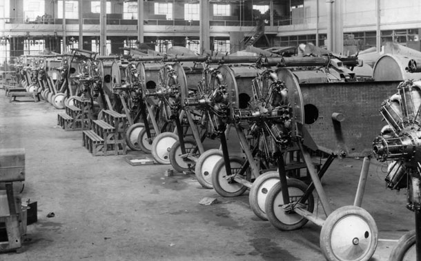 X003-2602/16507: Sopwith TF.2 Salamanders under construction at Air Navigation's Addlestone factory, probably during late 1918.