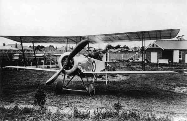 X003-2602/17999 Sopwith SL.T.B.P., port front view, Australia, probably 1917.