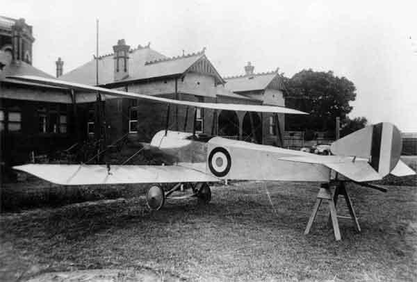 X003-2602/18000 Sopwith SL.T.B.P., port rear view, Australia, probably 1917.