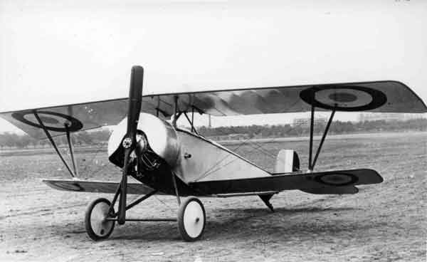 X003-2602/21795: Nieuport 11, probably at Issy-les-Moulineaux, probably during 1915. This aircraft was fitted with revised wing bracing.