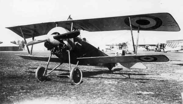X003-2602/21921: Nieuport 16, serial 5172, 1 Aircraft Depot, RFC at St. Omer on 29 April 1916. The aircraft was fitted with a conventional spinner. An Airco D.H.2 and two Morane-Saulniers P can be seen in the background.