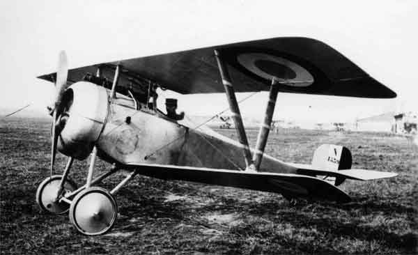 X003-2602/21948: Nieuport 17, serial N1539, French Air Force, probably during 1916 or 1917. This aircraft was fitted with a two-piece engine cowling.