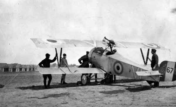 X003-2602/22068: Nieuport 23, serial A6783, (VI), B Flight, 40 Squadron, RFC, probably at Bruay, 1918. The aircraft featured B Flight's marking of Roman numerals in white with a black outline.