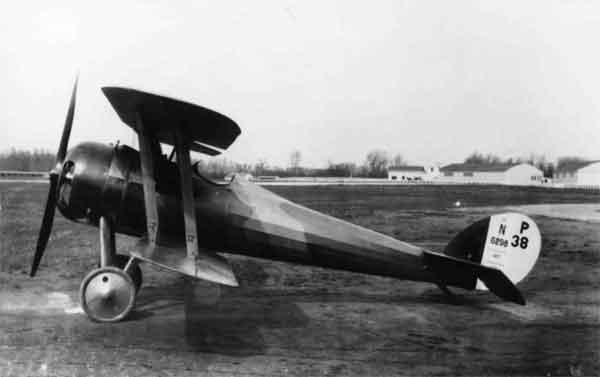 X003-2602-22158: Nieuport 28, serial N6298, (P-38), USAAS, probably at McCook Field, between 1918 and 1920.