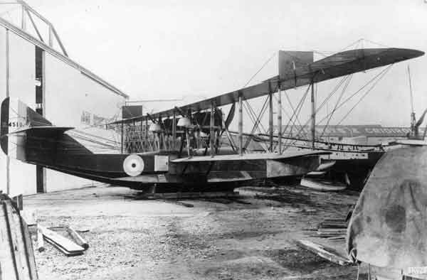 Felixstowe F.2A built by May, Harden & May at Hythe in 1918 (RAF Museum reference X003-2602/6613)
