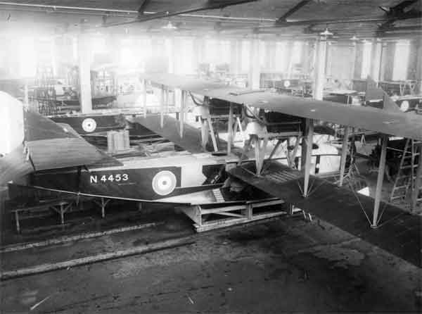 Felixstowe F.2As under construction by S.E. Saunders Ltd at Cowes in 1918 (RAF Museum reference X003-2602/6671)