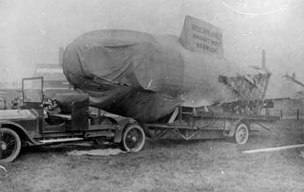 Boulton & Paul built Felixstowe F.3 hull being transported to the Phoenix Dynamo Company works in 1918 (RAF Museum reference X003-2602/6774)