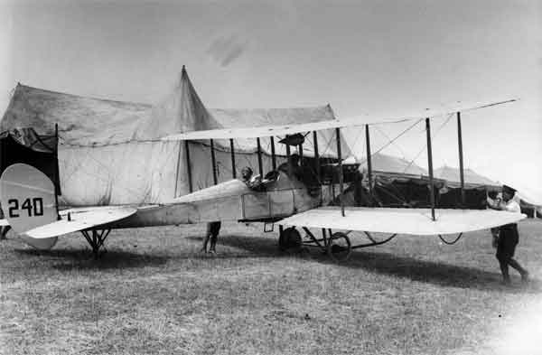 B.E.2a, serial 240, photographed at the RFC Concentration Camp at Netheravon, June 1914.