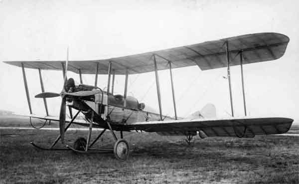 The first B.E.2c prototype, photographed in 1914.