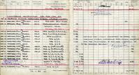 Extract from Flt Lt Pelham's flying log book recording training flights, 1941