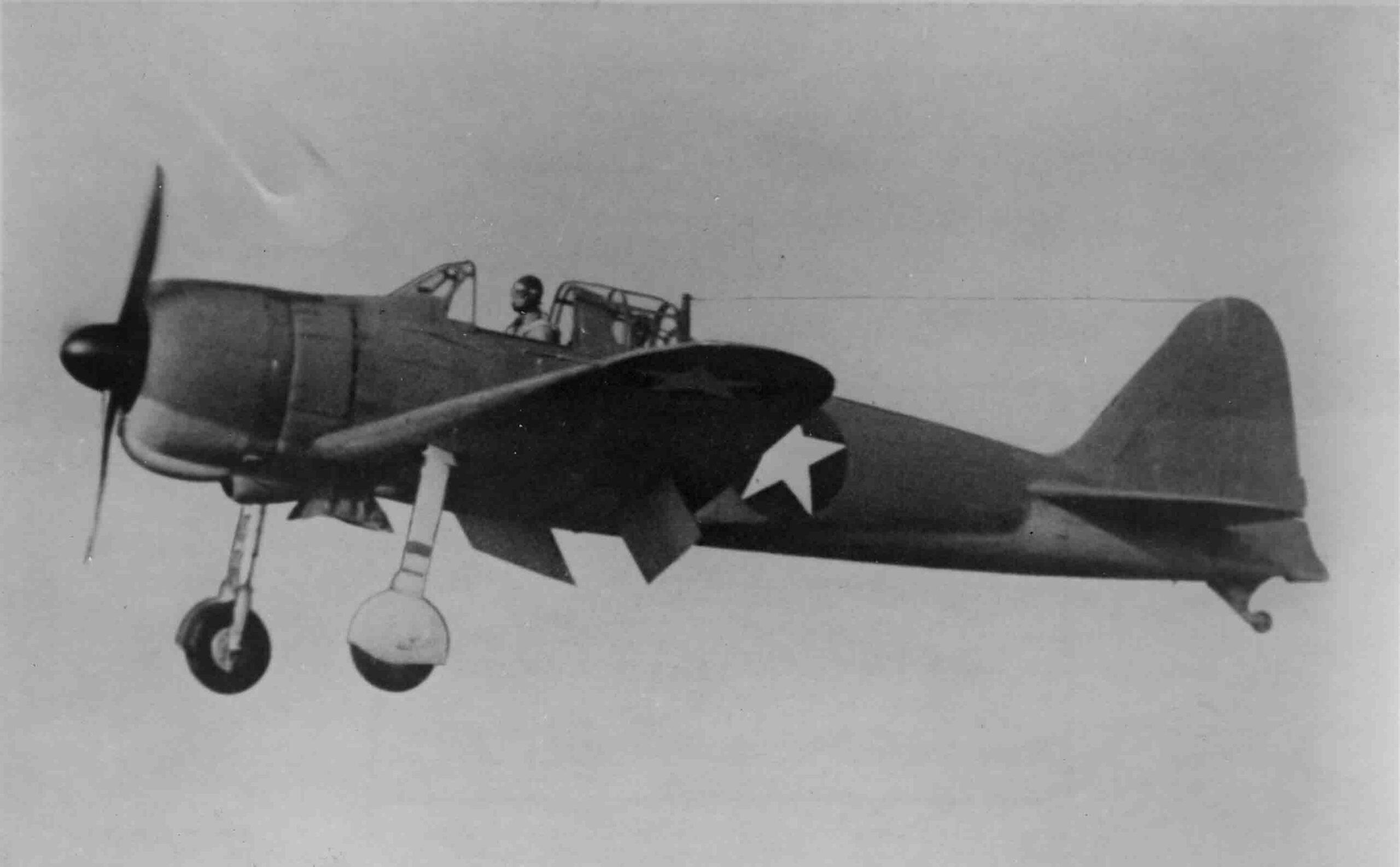 Captured Mitsubishi Zero in US markings, December 1942