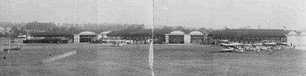 X007-5523: Auxiliary Air Force hangars, RAF Hendon, circa 1930