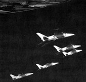 The Yellowjacks flying in formation