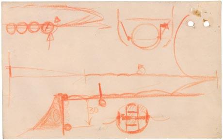 Barnes Wallis' bouncing bomb sketch