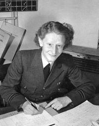 Flight Lieutenant Joan Peck, 1952, pictured shortly after coming top of her class at Junior Technical Signals School.