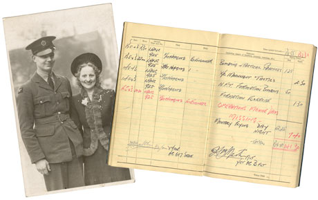 Brennan with his wife and logbook
