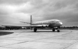 Comet on runway