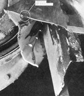 G-ALYU fuselage failure - outside