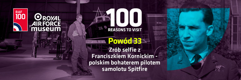 Why not grab a photograph of yourself with Franciszek Kornicki, The People's Spitfire Pilot.