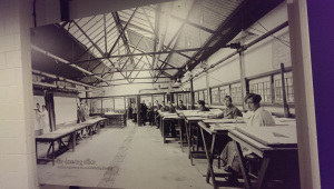 A photograph of the Drawing Office in 1915