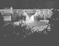 The breached Eder Dam