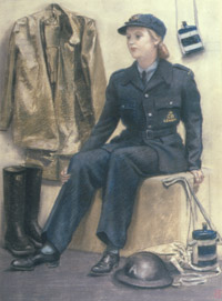 Women took an active part in civil defence