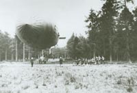 A German airship about to be launched