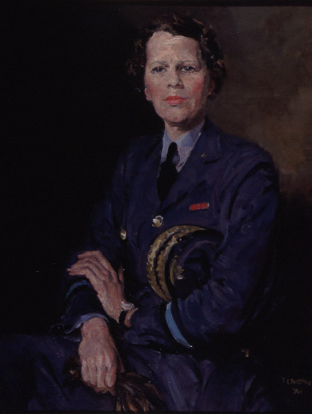 Air Chief Commandant Dame Katherine Trefusis Forbes, painted by Thomas Cantrell Dugdale (FA01246)
