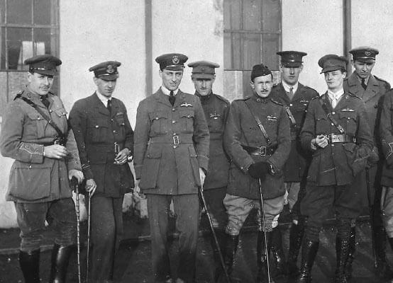 A group of unknown RAF Officers circa 1918