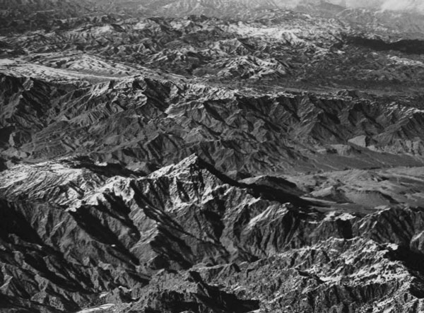 Figure 3 — Aerial View of Mountainous Terrain on the North-West Frontier, 1929, RAF Museum Archive.