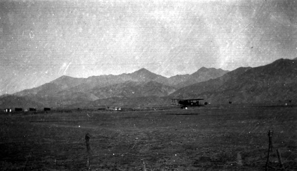Figure 6 — Bristol F.2b of 20 Squadron taking-off from Parachinar, 1920, RAF Museum Archive.