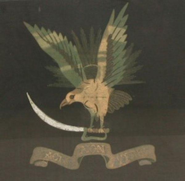 Figure 7 — Silk Panel, Ornamental Squadron Badge of No. 20 Squadron, c.1920s, RAF Museum Archive