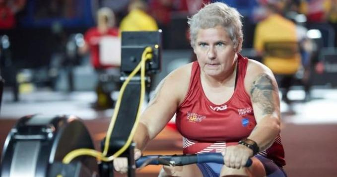 Michelle rowing at the Toronto Invictus Games