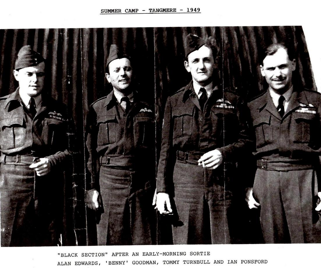 Benny Goodman, second left, with other members of his crew