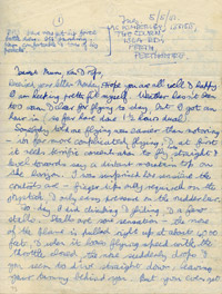 LAC Kimberley's first impressions of flying, 5 May 1942