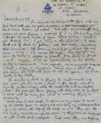 Flight Sergeant Albert Kimberley Letter