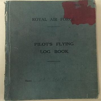 Figure 2: B354, Cover of Group Captain Douglas Bader's Log Book. RAF Museum Archive Collection.