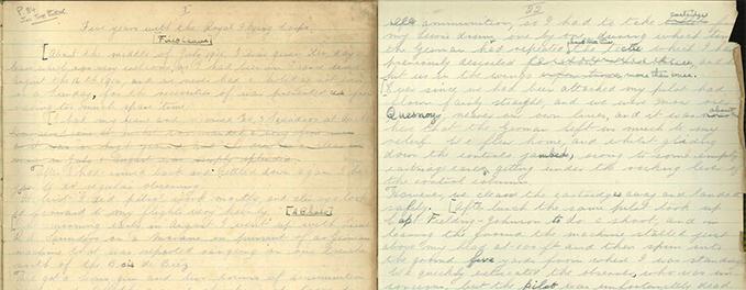 James McCudden's handwritten memoirs