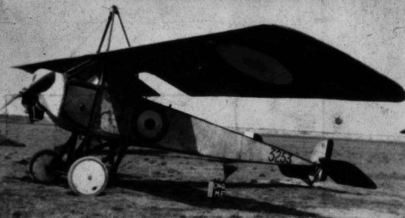 Morane Saulnier Type L Parasol, port front view on the ground, ca. 1915