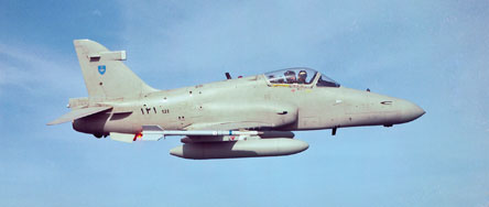 A BAe Hawk of the Royal Air Force of Oman