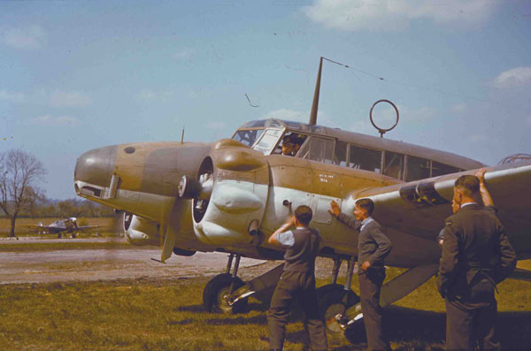 An Avro Anson I at North Weald in 1942, it is a similar aircraft to that in which Jack Watchous flew in June 1940