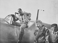 Werner Mölders a leading German fighter ace. In 1939 the Luftwaffe, unlike the RAF, had recent combat experience gained during the Spanish Civil War. Werner Mölders was a leading German fighter ace during the Spanish Civil War. On his return from Spain he set about developing new fighter tactics. In combat he replaced the aircraft V formation with a more flexible pair of aircraft known as a 'Rotte'; two pairs acting together were a 'Schwarm'. With these looser formations the German fighters were often at an advantage over their RAF counterparts. They remain, to this day, the basis of air combat formations.
