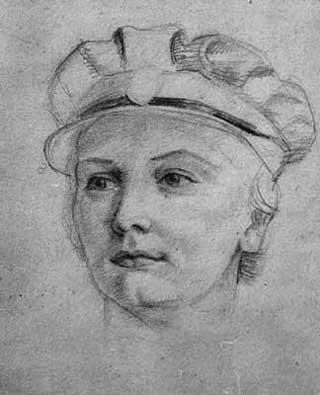 Portrait of a WAAF by Elva Blacker