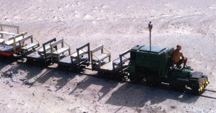 The small gauge railway at RAF Masirah