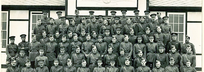 Officers of the Military Wing RFC at the Netheravon Concentration Camp 1914