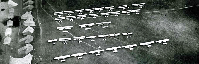 RFC aircraft at the Concentration Camp, Netheravon