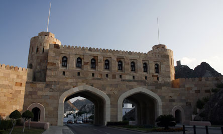 The Muscat Gate, Muscat, Oman - this gate houses a museum dedicated to the history of Muscat