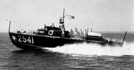 An air-sea rescue boat operating in the sea of Oman